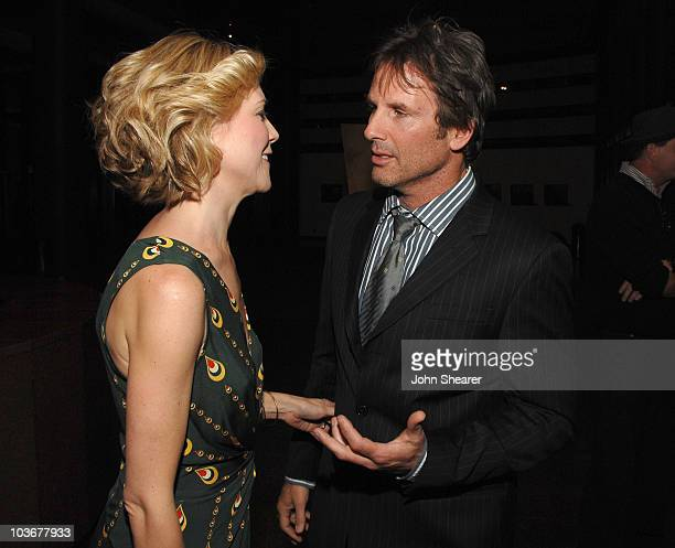 Actress Tracy Middendorf and Director Hart Bochner attend the premiere of 'Just Add Water' at the Directors Guild of America on March 18 2008 in...