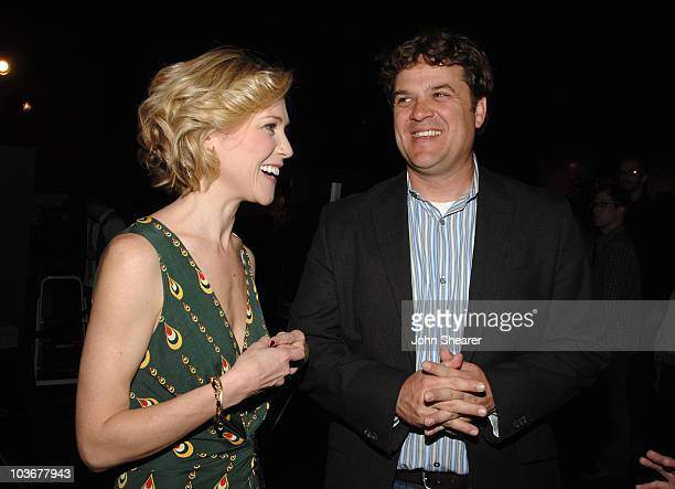 Actress Tracy Middendorf and producer Robin Bissell attend the premiere of 'Just Add Water' at the Directors Guild of America on March 18 2008 in...