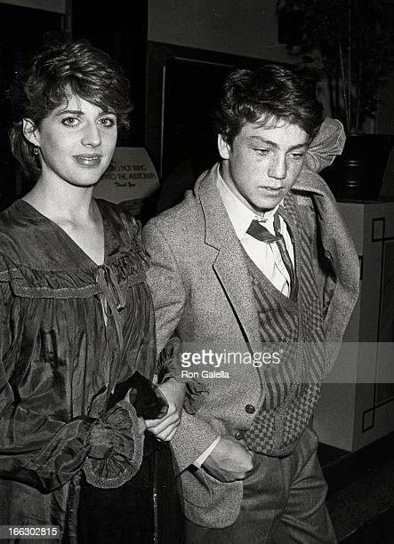 Actress Tracy Nelson and actor Griffin O'Neal attending First Annual American Video Awards on April 6 1983 at the Beverly Theater in Beverly Hills...