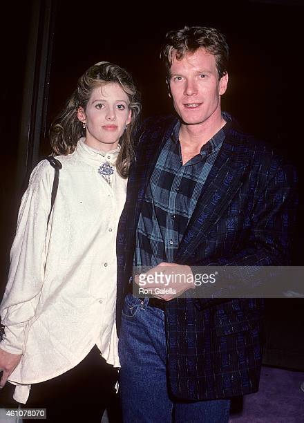 Actress Tracy Nelson and actor William R Moses attend the Down and Out in Beverly Hills Premiere Party on January 28 1986 at the Pips Club in Beverly...