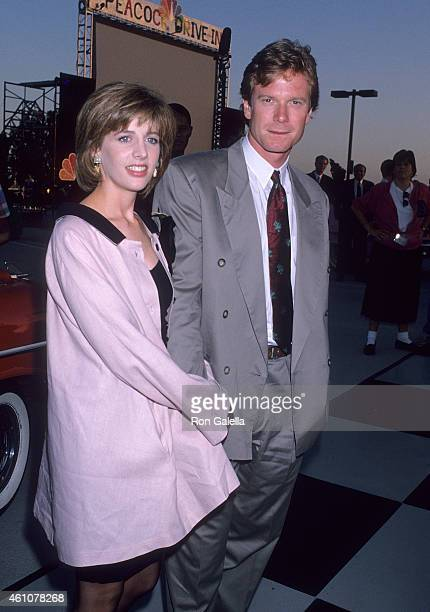 Actress Tracy Nelson and actor William R Moses attend the NBC Television Affiliates Party on July 15 1989 at Century Plaza Hotel in Century City...