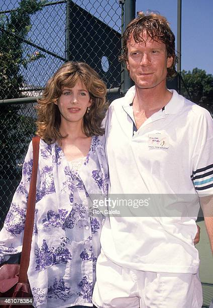 Actress Tracy Nelson and actor William R Moses attends the Sxith Annual Celebrity Tennis Classic to Benefit the MakeAWish Foundation on August 11...