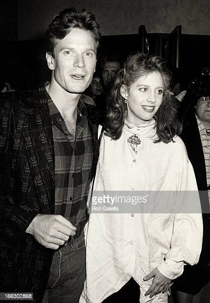 Actress Tracy Nelson and husband Billy Moses attending the premiere of Pretty In Pink on January 29 1986 at Mann Chinese Theater in Hollywood...