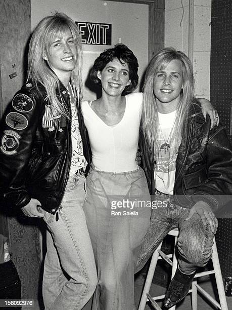 Actress Tracy Nelson and musicians Mathew Nelson and Gunnar Nelson attending 'Tracy Nelson Oscar Telecast Rehearsals' on March 20 1989 at ABC TV...