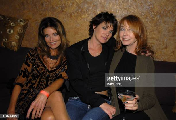 Actress Tracy Scoggins actress Michelle Wolff and actress Cassandra Peterson attend the Dante's Cove Season Three after party held at Eleven...