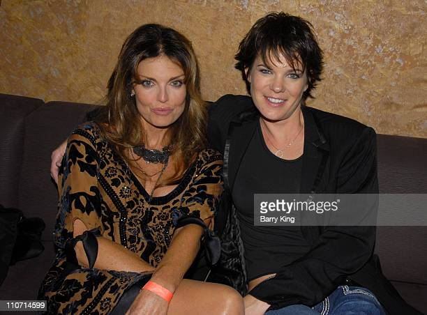 Actress Tracy Scoggins and actress Michelle Wolff attend the Dante's Cove Season Three after party held at Eleven nightclub on October 16 2007 in...