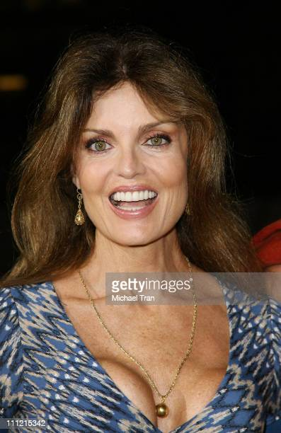 Actress Tracy Scoggins arrives at the 300 DVD Release Party at Petco Stadium on July 27 2007 in San Diego California