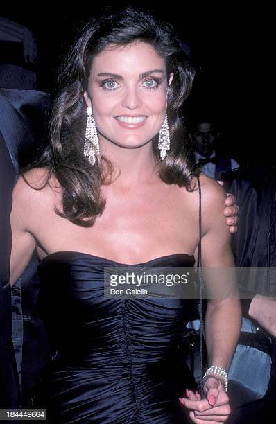 Actress Tracy Scoggins attends the 12th Annual People's Choice Awards After Party Hosted by Aaron Spelling on March 11 1986 at L'Ermitage Hotel in...