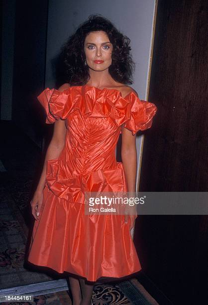 Actress Tracy Scoggins attends the 1988 Presidential Election Campaign Republican George H W Bush Campaign Benefit on June 3 1987 at the Century...