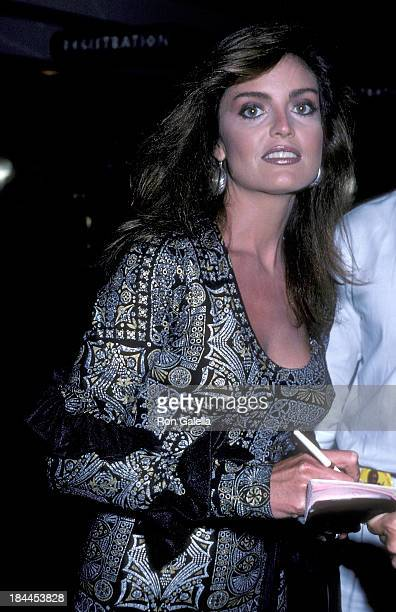 Actress Tracy Scoggins attends the 21st Annual Jerry Lewis MDA Labor Day Telethon on September 1 1986 at Caesars Palace in Las Vegas Nevada