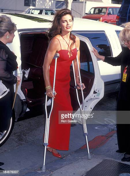 Actress Tracy Scoggins attends the Third Annual Jim Thorpe Pro Sports Awards on July 11 1994 at the Wiltern Theatre in Los Angeles California