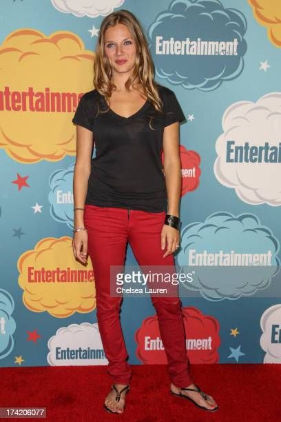 Actress Tracy Spiridakos arrives at Entertainment Weekly's annual ComicCon celebration at Float at Hard Rock Hotel San Diego on July 20 2013 in San...