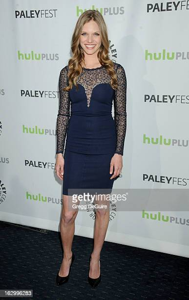 Actress Tracy Spiridakos arrives at the 30th Annual PaleyFest The William S Paley Television Festival featuring 'Revolution' at Saban Theatre on...