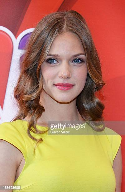 Actress Tracy Spiridakos attends 2013 NBC Upfront Presentation Red Carpet Event at Radio City Music Hall on May 13 2013 in New York City