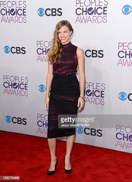 Actress Tracy Spiridakos attends the 39th Annual People's Choice Awards at Nokia Theatre LA Live on January 9 2013 in Los Angeles California