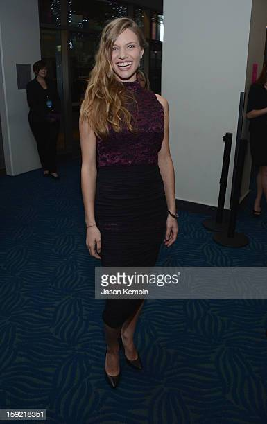 Actress Tracy Spiridakos backstage at the 39th Annual People's Choice Awards at Nokia Theatre LA Live on January 9 2013 in Los Angeles California