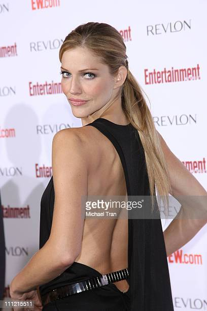 Actress Tricia Helfer arrives at the Entertainment Weekly's 5th Annual PreEmmy Party at Opera and Crimson on September 15 2007 in Hollywood California