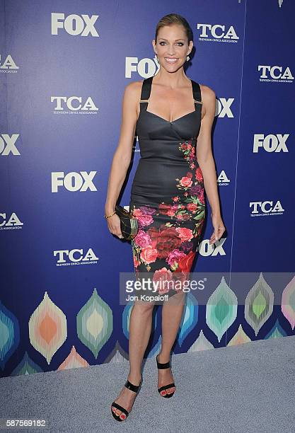 Actress Tricia Helfer arrives at the FOX Summer TCA Press Tour on August 8 2016 in Los Angeles California