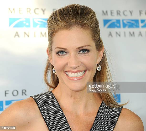Actress Tricia Helfer arrives at The Hidden Heroes Gala presented by Mercy For Animals at Unici Casa on August 29 2015 in Culver City California