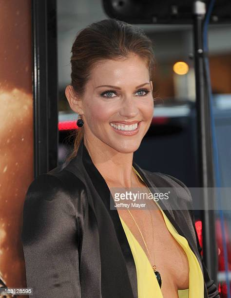 Actress Tricia Helfer Arrives At The Los Angeles Premiere Of Riddick At The Westwood
