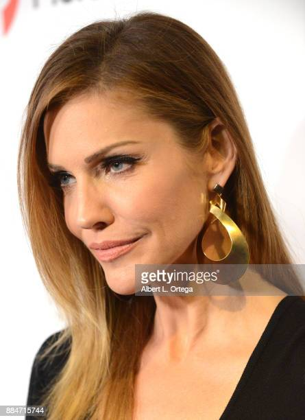 Actress Tricia Helfer arrives for the TJ Scott Book Launch For 'In The Tub Volume 2' held at Cinematic Pictures Group Gallery on December 2 2017 in...