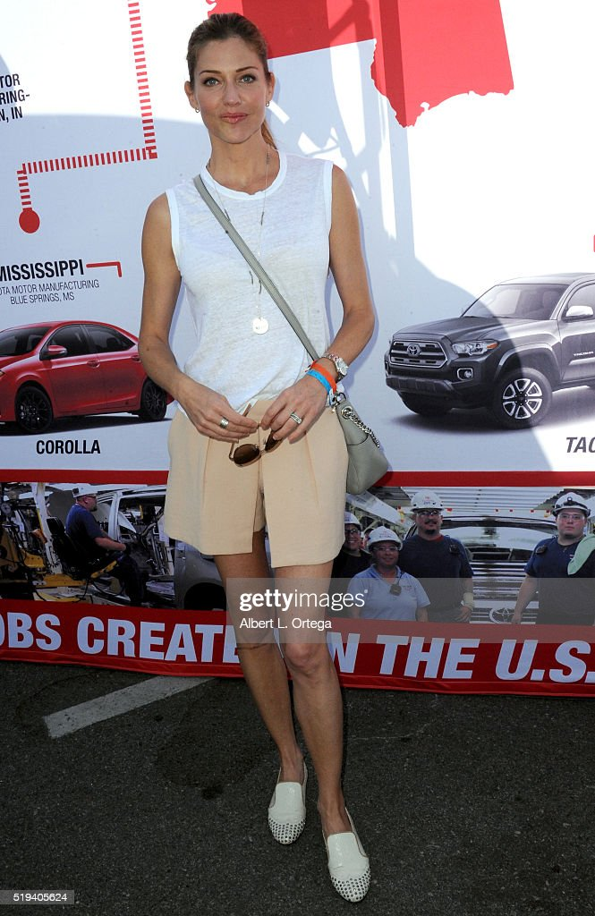 Actress Tricia Helfer at the 42nd Toyota Grand Prix Of Long Beach - Press Day on April 5, 2016 in Long Beach, California.