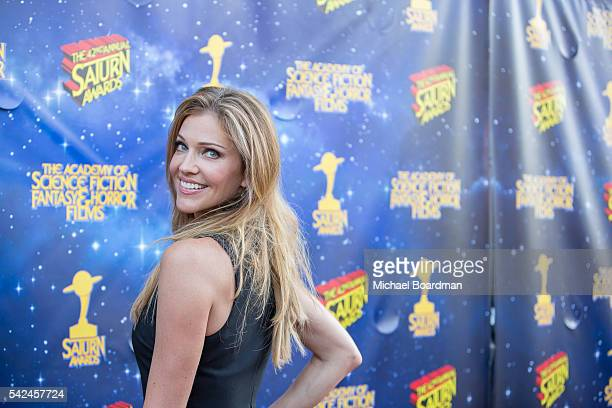 Actress Tricia Helfer attends the 42nd Annual Saturn Awards at The Castaway on June 22, 2016 in Burbank, California.