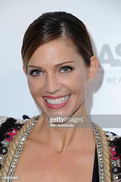Actress Tricia Helfer attends the American Society for the Prevention of Cruelty to Animals celebrity cocktail party on May 6 2014 in Beverly Hills...