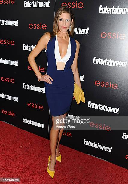 Actress Tricia Helfer attends the Entertainment Weekly celebration honoring this year's SAG Awards nominees sponsored by TNT TBS and essie at Chateau...