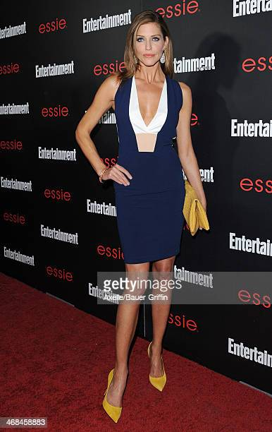 Actress Tricia Helfer attends the Entertainment Weekly SAG Awards PreParty at Chateau Marmont on January 17 2014 in Los Angeles California