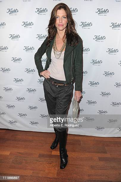 Actress Tricia Helfer attends the launch of Kiehl's Rare Earth Deep Pore Cleansing Masque on April 7 2011 in Santa Monica California