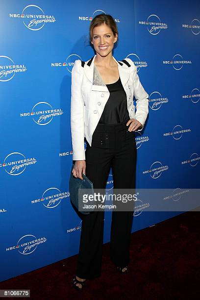 Actress Tricia Helfer attends the NBC Universal Experience at Rockefeller Center on May 12 2008 in New York City