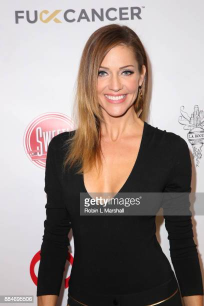 Actress Tricia Helfer attends the TJ Scott Book Launch for 'In The Tub Volume 2' at Cinematic Pictures Group Gallery on December 2 2017 in Hollywood...