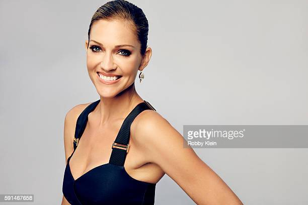 Actress Tricia Helfer from FOX's 'Lucifer' poses for a portrait at the FOX Summer TCA Press Tour at Soho House on August 9 2016 in Los Angeles...