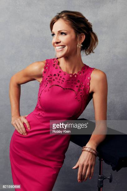 Actress Tricia Helfer from Fox's 'Lucifer' poses for a portrait during ComicCon 2017 at Hard Rock Hotel San Diego on July 22 2017 in San Diego...