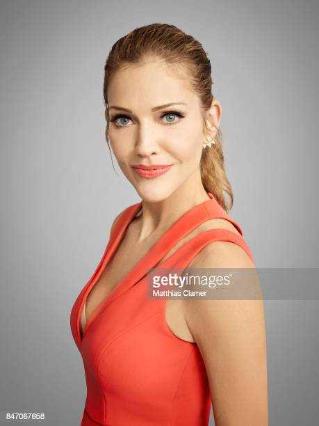 Actress Tricia Helfer from 'Lucifer' is photographed for Entertainment Weekly Magazine on July 23, 2016 at Comic Con in the Hard Rock Hotel in San...