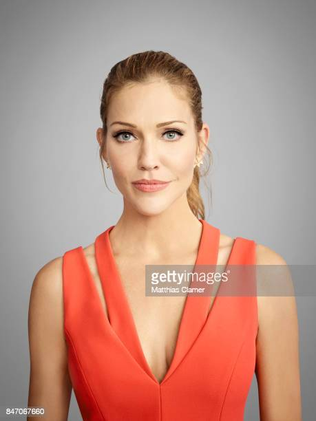 Actress Tricia Helfer from 'Lucifer' is photographed for Entertainment Weekly Magazine on July 23 2016 at Comic Con in the Hard Rock Hotel in San...