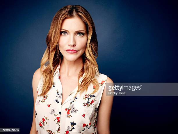 Actress Tricia Helfer is photographed at the Hallmark Channel Summer 2016 TCA's on July 27 2016 in Los Angeles California