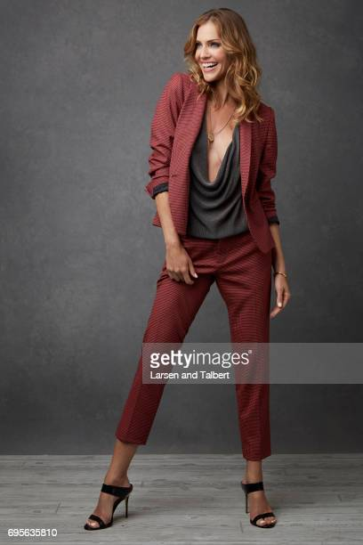 Actress Tricia Helfer is photographed for Entertainment Weekly Magazine on June 9 2017 in Austin Texas