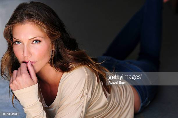 Actress Tricia Helfer is photographed for Gladys Magazine on August 1 2013 in Santa Monica California PUBLISHED IMAGE