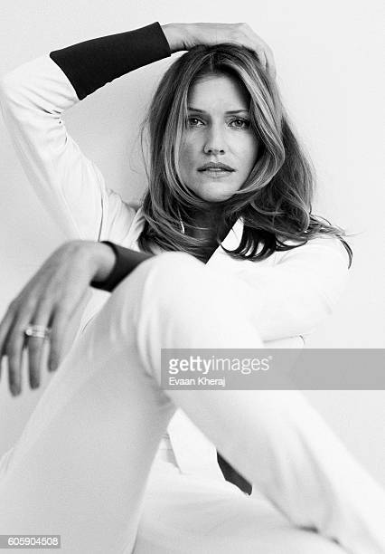 Actress Tricia Helfer is photographed for Self Assignment on June 3 2013 in Vancouver British Columbia