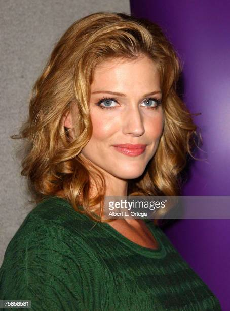 """Actress Tricia Helfer of """"Battlestar Galactica"""" attends the 2007 Comic-Con International on July 27, 2007 at the San Diego Convention Center in San..."""