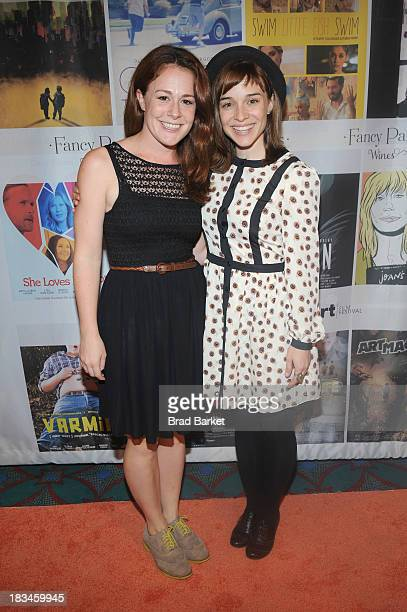 Actress Tricia Olds and director Renee Felice Smith attend the 18th Annual Genart Film Festival Closing Night She Loves Me Not Swim Little Fish Swim...