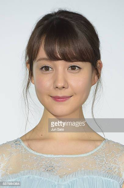 Actress Triendl Reina attends the stage greeting for 'Ninkyo Yaro' at Cinema Mediage on June 4 2016 in Tokyo Japan