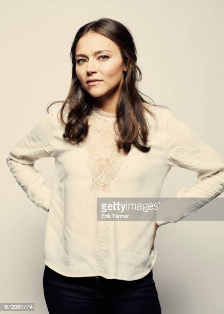 Actress Trieste Kelly Dunn from 'Blame' poses at the 2017 Tribeca Film Festival portrait studio on April 23 2017 in New York City