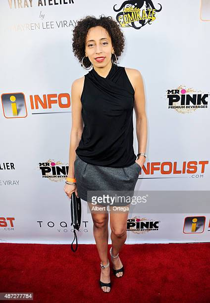 Actress Trina Martica arrives for the Pre LA ComicCon Party Celebrating All Things Comic Book SciFi Fantasy And Cosplay held at Sofitel Hotel on July...