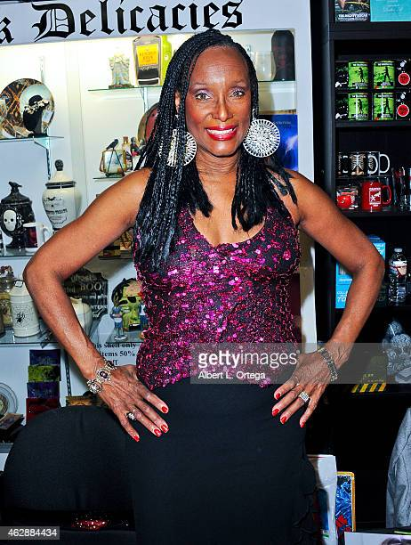 Actress Trina Parks at the Second Annual David DeCoteau's Day Of The Scream Queens held at Dark Delicacies Bookstore on January 25, 2015 in Burbank,...