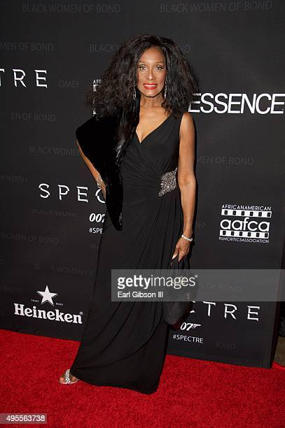 Actress Trina Parks attends SpectreThe Black Women of Bond tribute at California African American Museum on November 3 2015 in Los Angeles California