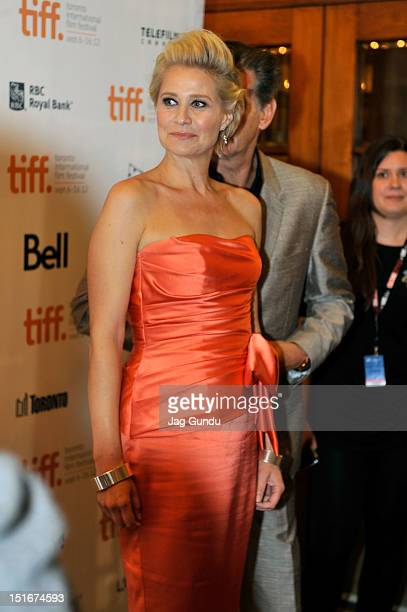 Actress Trine Dyrholm and actor Pierce Brosnan attend the Love Is All You Need premiere during the 2012 Toronto International Film Festival at The...