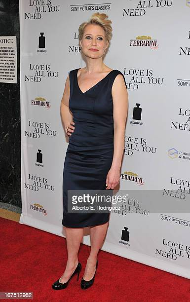 """Actress Trine Dyrholm arrives to the premiere of Sony Pictures Classics' """"Love Is All You Need"""" at Linwood Dunn Theater at the Pickford Center for..."""
